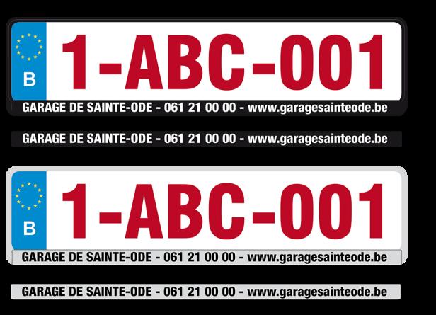 Favorit Portes-plaques autos personnalisées ZB15